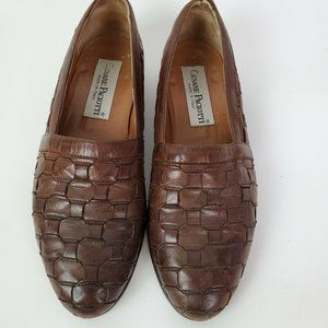 CESARE PACIOTTI Brown Leather Loafers Italy 7.5